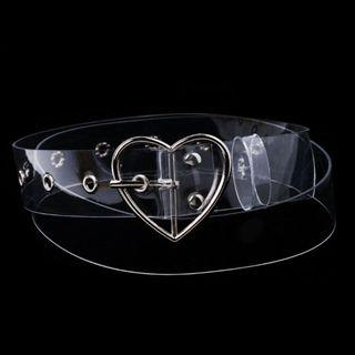 [PO] Transparent Heart Ring Belt (brandy inspired)