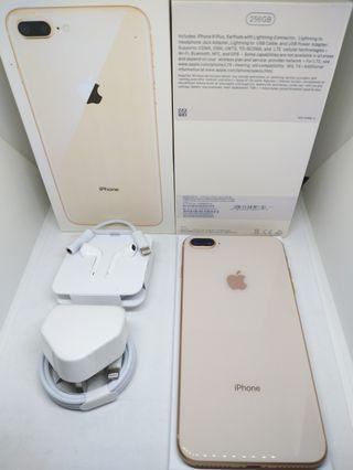 Apple iPhone 8+ Plus 256Gb Gold Fullset Mulus Surabaya