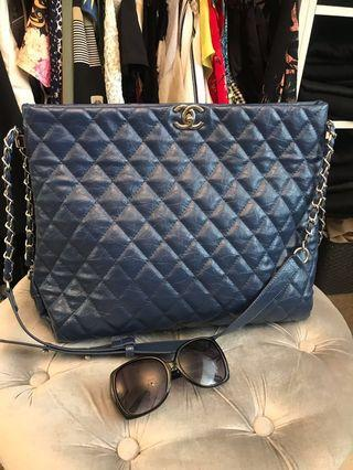 Chanel blue large bag