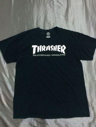 🚚 THRASHER 基本款 黑色短T 上衣 滑板 街頭 潮流 穿搭