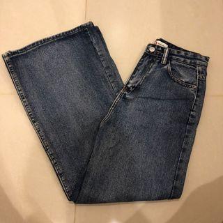 🚚 直筒牛仔寬褲