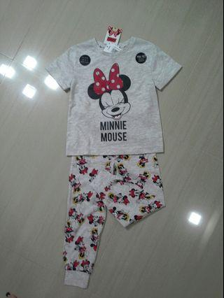 Authentic Disney Brand NEW Girls Minnie Pajama