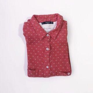 Mango Red Printed Longsleeves Buttondown • Size S - M