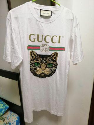 Gucci tee mystical cat logos 💯% original