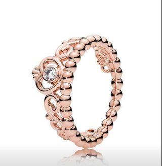 Pandora rose gold princess tiara