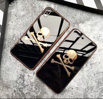 Japan mastermind skull 骷髏頭鋼化玻璃全包手機殼 Apple iPhone case