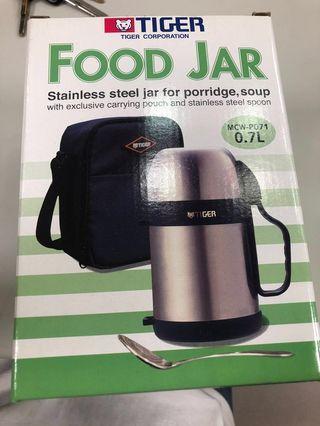 🚚 TIGER虎牌*0.7L 大容量食物罐 保溫壺(MCW-P071) 全新 降價