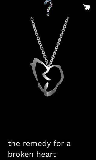 🚚 XXXTENTACION the remedy for a broken heart necklace