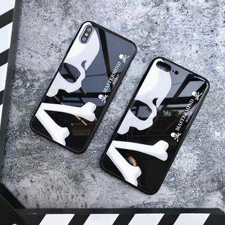 Japan mastermind skull 骷髏頭全包鋼化玻璃手機殼 Apple iPhone case