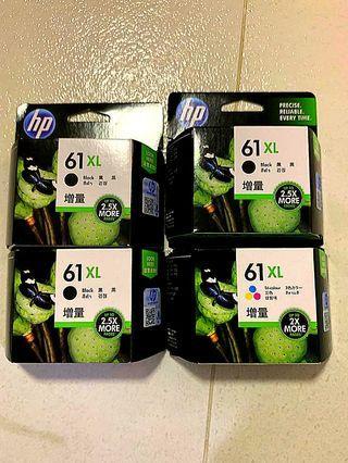HP Printer Ink 61XL。HP打印機墨水61增量版