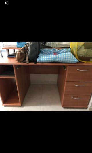 solid wood study table blessing