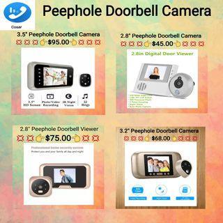 "2.8""/3.2""/3.5"" Peephole Doorbell Camera"