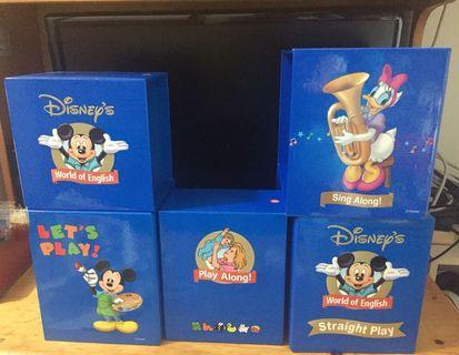 正品迪士尼美語世界紙盒 吉盒 收納盒 Disney's World of English Empty Box Card Box