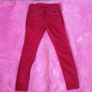 Red Corduroy Jeans Zara