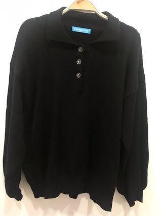 🚚 (全新)黑色親膚針織上衣 #半價衣服拍賣會