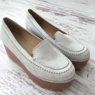 🚚 Pazzo 麂皮厚底皮鞋 9.9成新 原價$1100 37號(23.5cm)