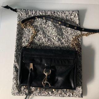 AUTHENTIC REBECCA MINKOFF MINI MAC BLACK CROSSBODY BAG SMALL PURSE