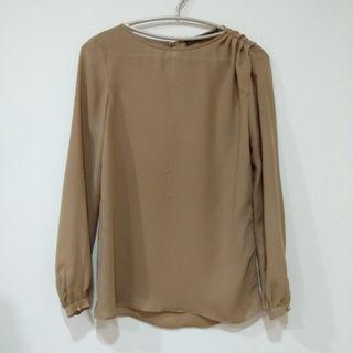 Zara 卡其色長袖襯衫#半價衣服拍賣會