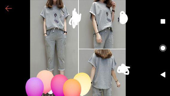 🚚 套裝(T恤+七分褲)