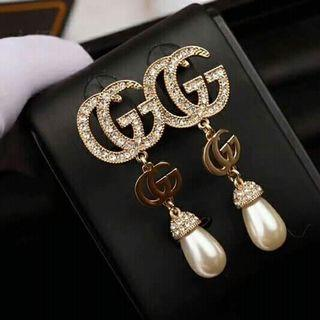 Last 1pc! CLEARANCE SALE Gucci Earrings GG Earrings Gucci Dangling Earrings Pageant Earrings Debut Earrings Wedding Earrings Party Earrings