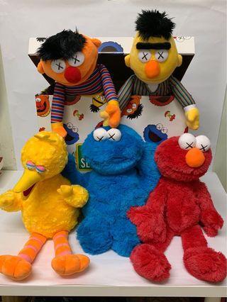 KAWS X Sesame Street Toy Complete Box