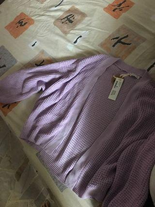 CO cardigan in lilac