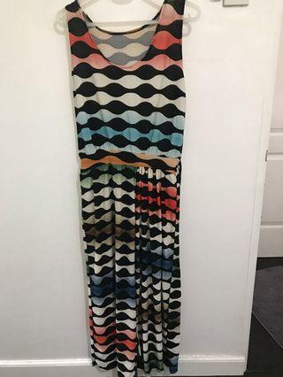 Retro-printed jumpsuit