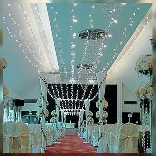 FairyLights Decor for aisle walkway
