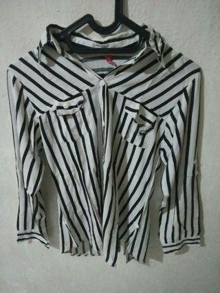 Stripe blouse,freeong