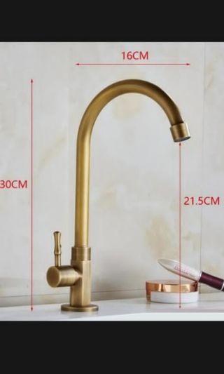 [vesak day special - 5% off] Brass kitchen tap
