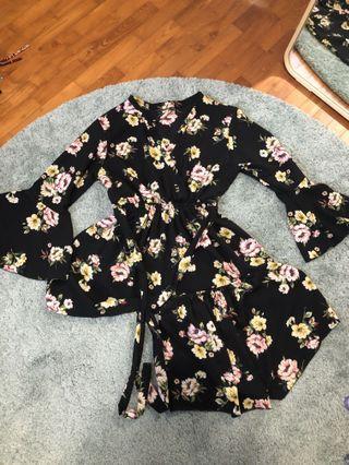 Floral Kimono Set
