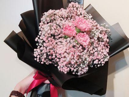 🚚 Carnation Bouquet | Fresh Flowers Bouquet | Mother's Day Bouquet #04