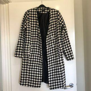 Missguided houndstooth coat Sz 8