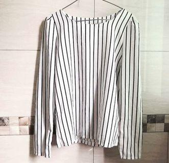 🚚 直條紋簡約長袖上衣#半價衣服拍賣會