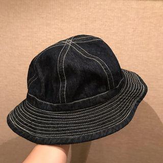 原色 丹寧 漁夫帽