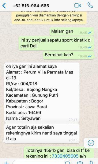 PENIPUAN! HARAP BERHATI2 BAGI PARA SELLER