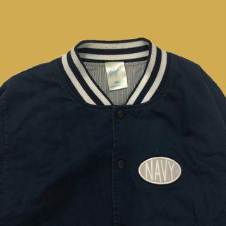 🚚 Navy 海軍藍 刺繡 徽章 空軍外套
