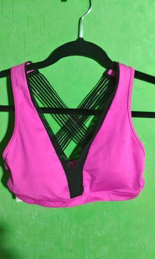 Victoria's Secret Pink Plunging Sports Bra