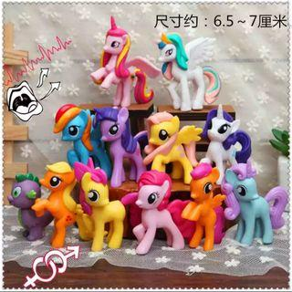 My little Pony figurine for Cake/Cupcake/Muffin Toppers for Party Decoration