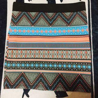 🚚 zara 民族風 短裙 窄裙 包裙 #半價衣服拍賣會