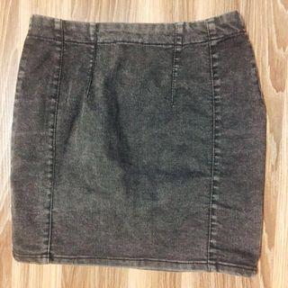 🚚 正韓 黑色牛仔短裙 窄裙 #半價衣服拍賣會