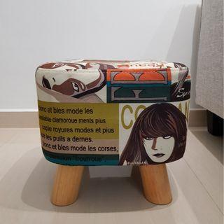 Chic square shape ottoman stool