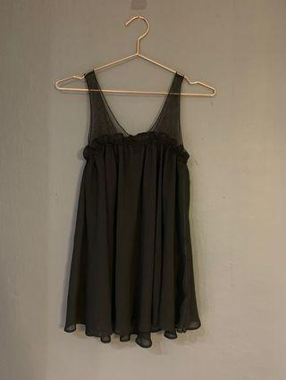 🚚 Black Chiffon Marc by Marc Jacobs Babydoll Top #Endgameyourexcess