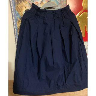 Uniqlo 深藍色 長裙