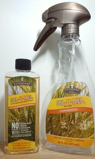 Sol-U-Mel Stain Remover 237ml (FREE Spray Bottle)