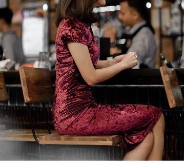 NEW Velvet bodycon dress