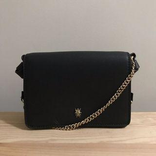 gold chain square crossbody
