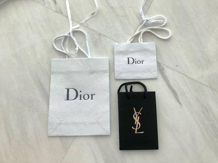 DIOR & YSL authentic paperbags