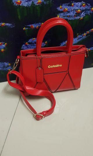 Carlo Rino Handbag - Red Colour - Used