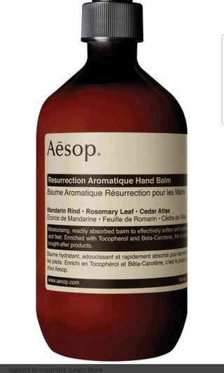 Aesop Resurrection Hand Balm